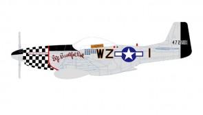 "USAF P-51D Mustang ""Big Beautiful Doll"" Lt Col John Landers by Air Force 1 models AF1-0149A scale 1:72"