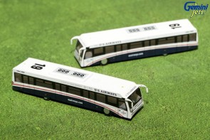 New Mold! Greener US Airways Cobus 3000 Set of  Buses G2USA573 Die-Cast 1:200