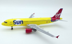 Virgin Sun Airbus A320 G-VMED With Stand B-320-VSUN-01 Inflight Scale 1:200