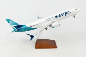 Westjet Boeing 737-Max8 C-FNWD stand & Gears Skymarks Supreme SKR8276 scale 1:100 eztoys