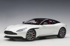 White Aston Martin DB11 Morning Frost White AUTOart 70266 scale 118