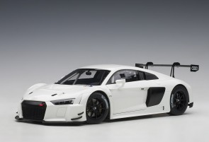 White Audi R8 LMS Plain Color Version AUTOart 81602 die-cast scale 1:18