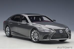 White Lexus LC500h Manganese Luster Metallic/Crimson & Black Interior AUTOart 78867 scale 1:18