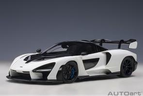 White McLaren Senna, vision pure/white die-cast AUTOart model 76075 scale 1:18
