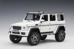 White Mercedes G500 4X4 2 gloss die-cast model AUTOart 76316 scale 1:18