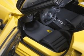 Yellow Alfa Romeo 4C Spider die-cast Giallo Prototipo AUTOart 70143 scale 1:18