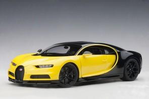 Yellow Bugatti Chiron 2017 Juane Molsheim YellowNocturne Black AUTOart 70994 scale 118